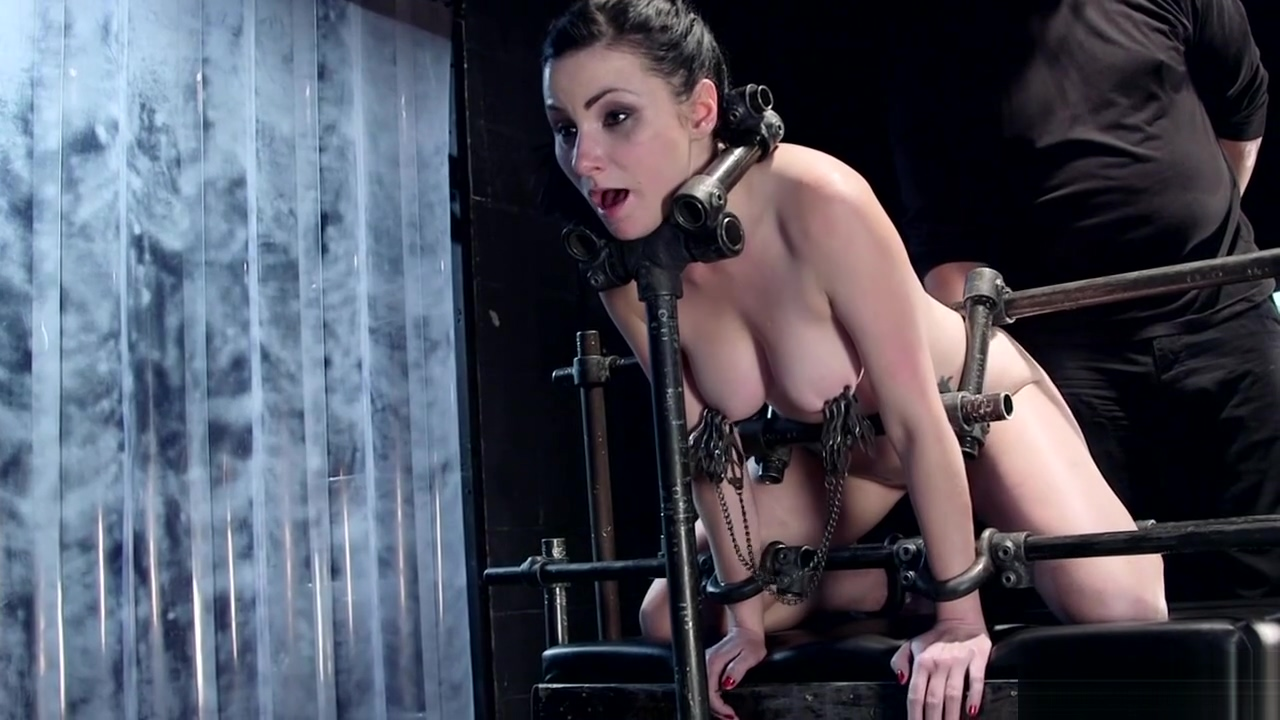 Slave set on metal pipe gets whipped