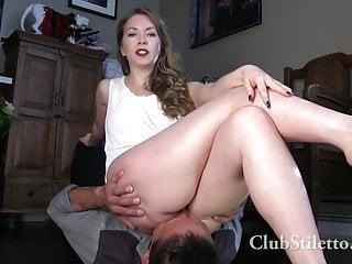 Shiny ass facesitting