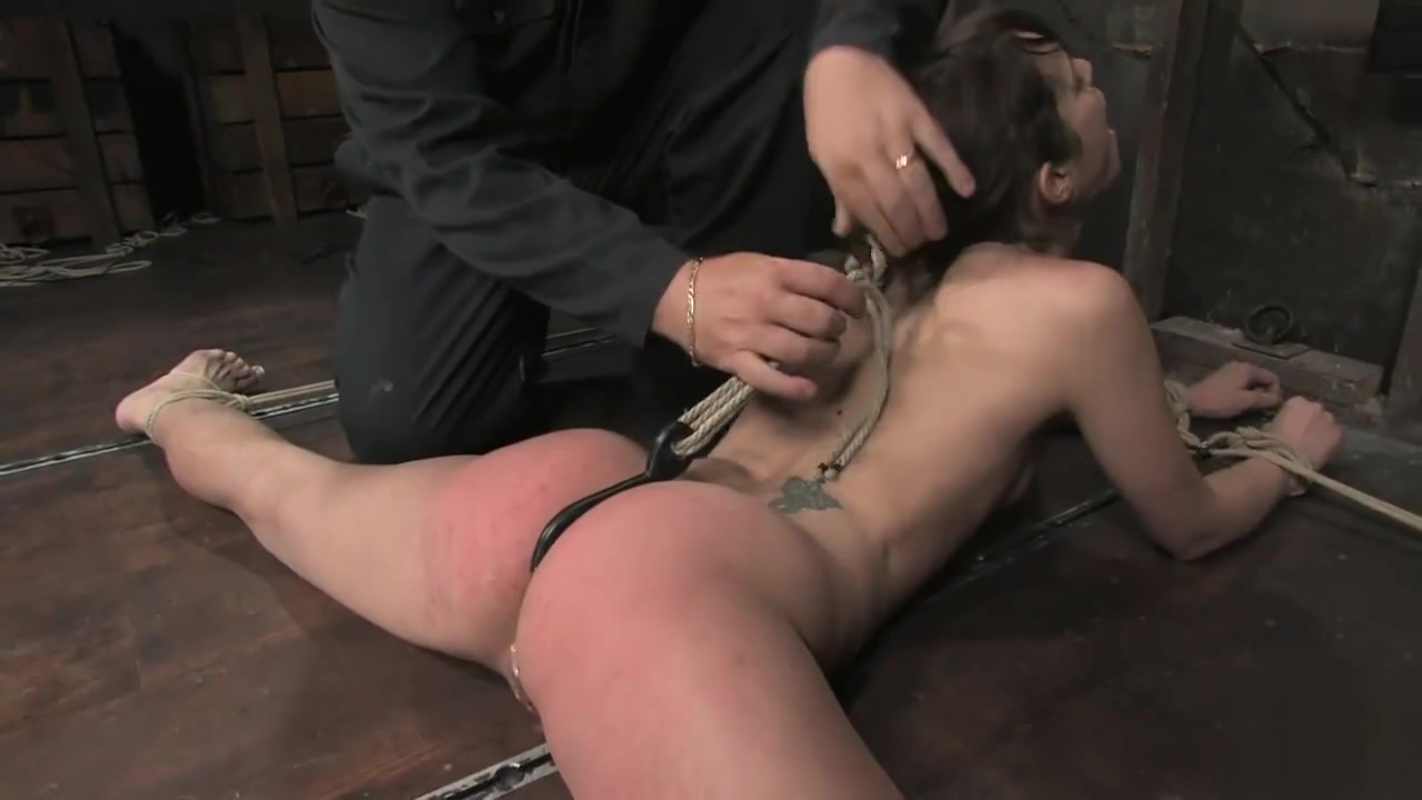 Bound sex slave anal double penetration