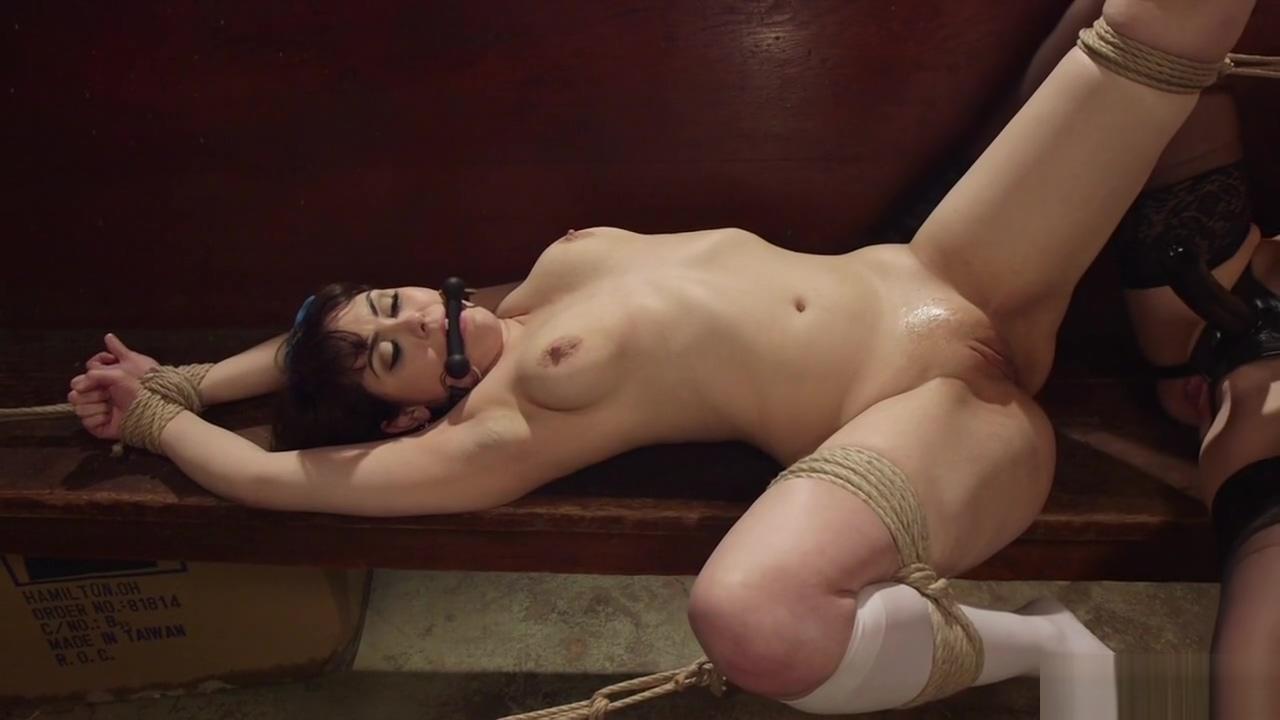 Lesbian nun anal plugs gagged brunette