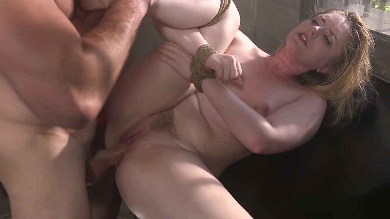 Big booty blonde is fucked in bondage