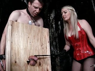 LexiSindel handjob and bondage whipping cock