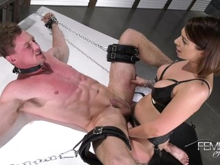 Domination Mistress Ivy Lebelle Fuck Guy With Strapon