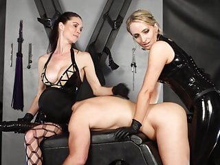 2 mistresses double strap-on gay