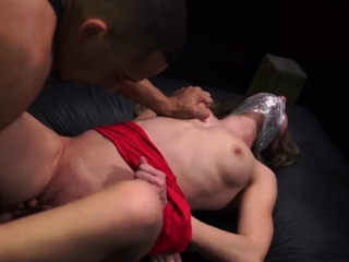 Rough old man and mature dominates young Poor Callie Calypso