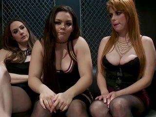 Three Sluts In Bondage Action