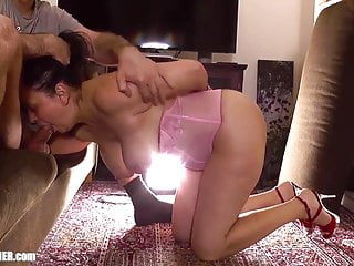 Busty amateur MILF is brutally degraded, skullfuck