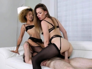 Police bound and gagged Alex Blake And Xianna Hill in Five S
