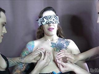 Tied Up Babe Lactating & Breastfeeding Two Horny Sluts