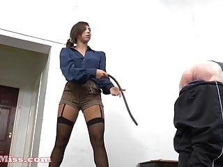 Femdom spanking