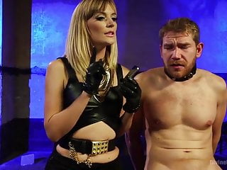 Mistress Mona Wales and a male slave