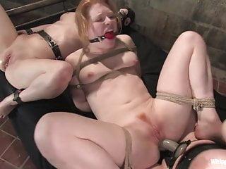 Mistress dominates her slave pet