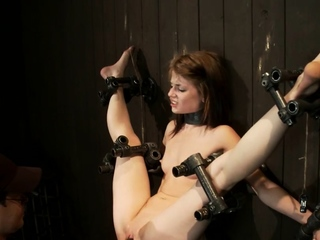 Bound legs little babe is vibed
