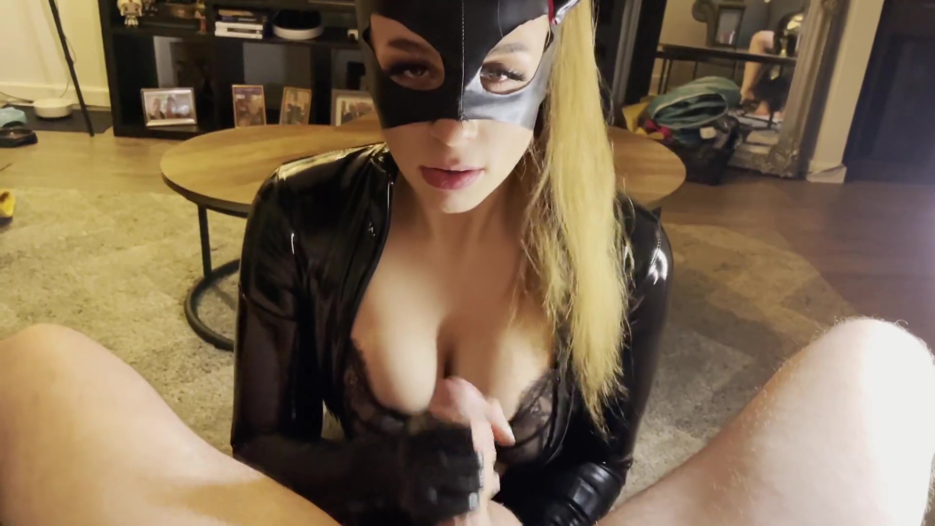 Cute Latex Bunny Makes My Cock Explode With A Nasty Femdom Blowjob
