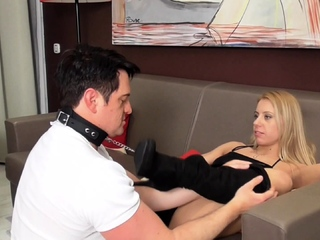 princess Nicole Train her foot slave bobby