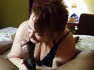 Mother In-Law Blows My cock In the house. Kinky Gilf