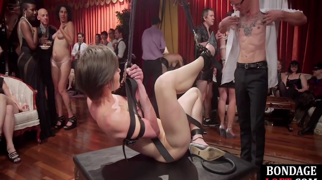 Bound Lingerie Slaves Get Whip Punishment Before Vibrator