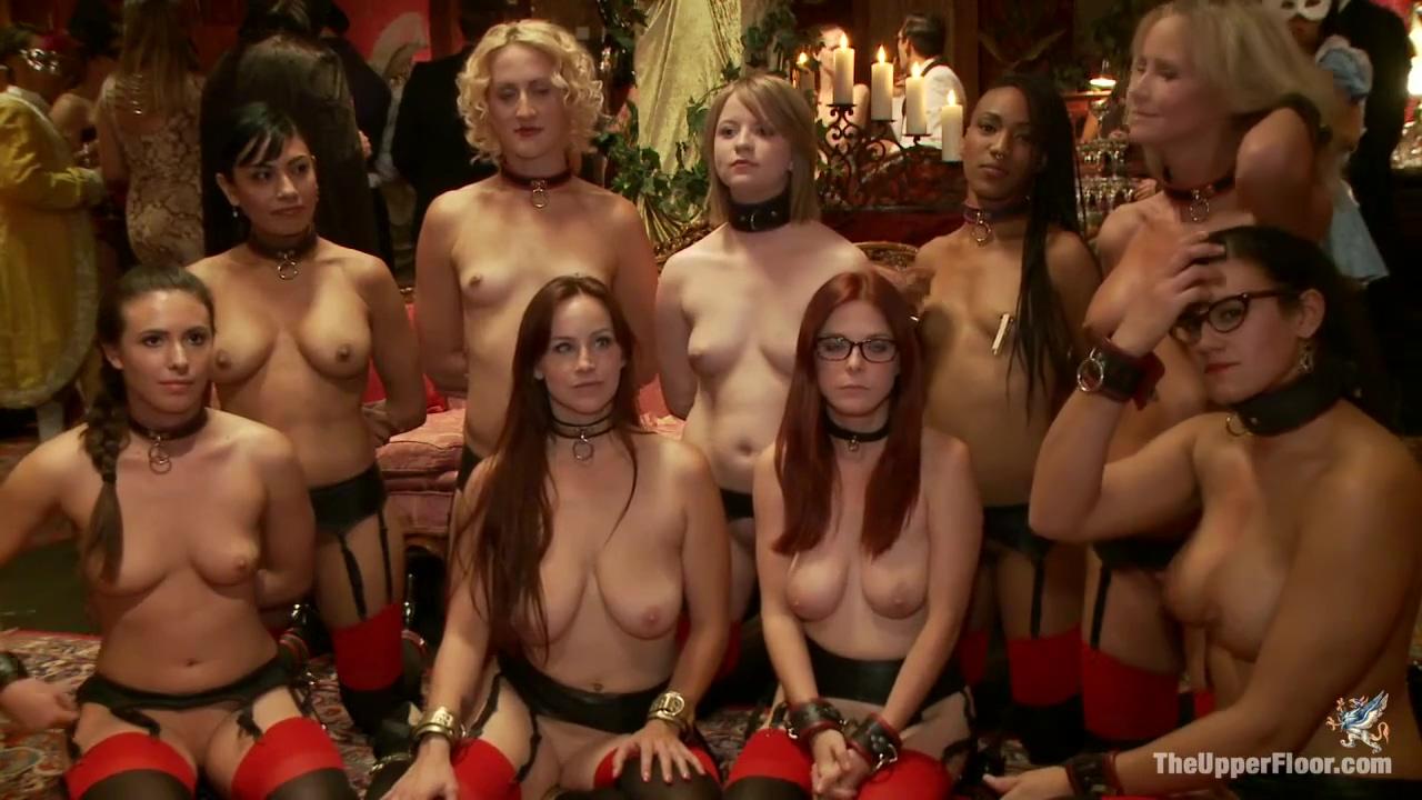 Bdsm Porn Masquerade Group Sex With Nine Slaves