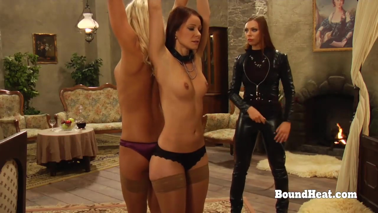 Lesbian Madame Whipping Their Tight Tied Up Slave Bodies