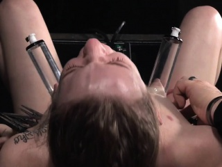 Nippletormented whore punished by her master