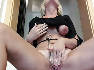 Julie's public orgasm at the office