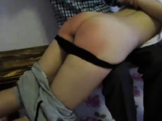 Chinese ass Lulu gets spanked by her guardian