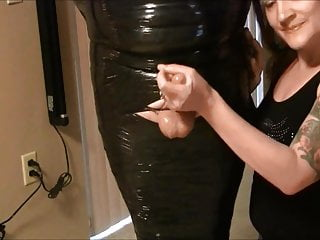 Heavy tied in plastic to post orgasm hj