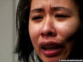 Schoolgirl spanked to tears