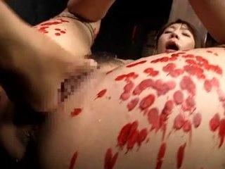 Japanese hottie enjoys a kinky BDSM fun