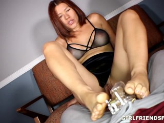 Foot Tease in Chastity