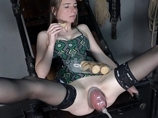 Skinny girl is fisted