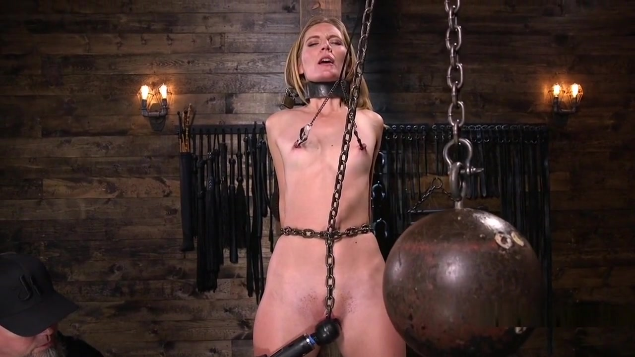 Blonde In Bondage Puffy Cunt Toyed