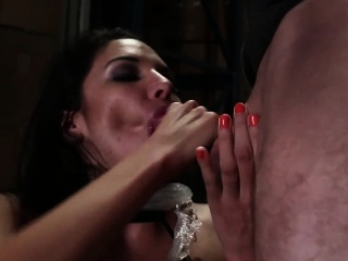 Sub Misty Martinez dominated with deepthroat
