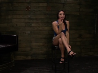 Isa Mendez bondaged and throat fucked in dark basement