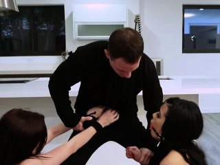 Aliyah watch as dude sexually punishes Haileys tight pussy