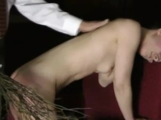 Punishing the maid spanking strapping birching