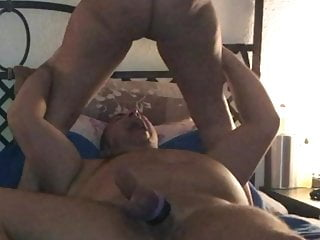Horny Milf pissing guy in face, piss on. He drinks my piss.