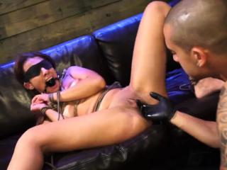 Amateur rough sex and enema butt plug punishment first